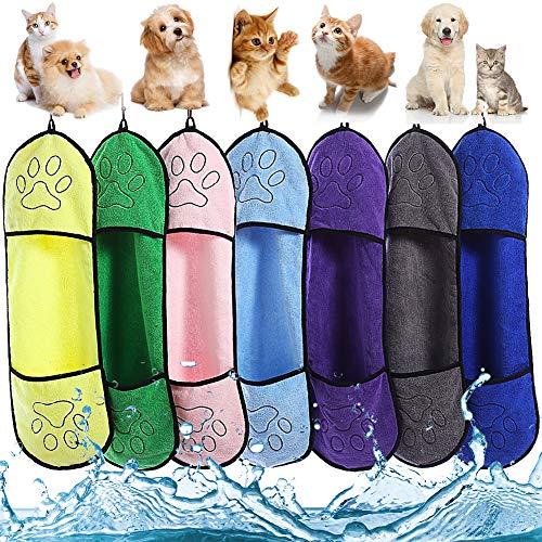 Hundehandtuch LLMMZD Mikrofaser Haustier Badetuch für Große und Kleine Hunde, Katzen, Haustier