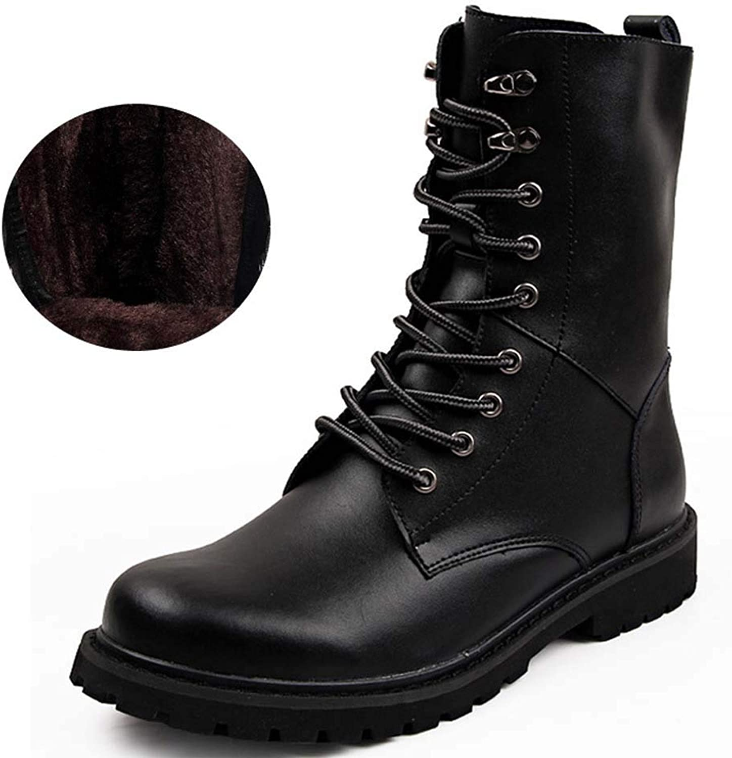 Leather Men's Martin Boots Round Scallop Boots Short Boots Men's shoes