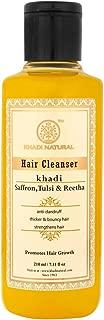Khadi Natural Saffron, Tulsi and Reetha Hair Cleanser (Shampoo), 210ml