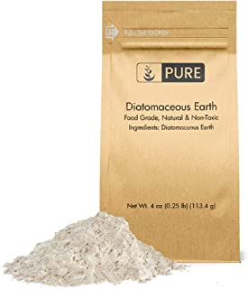 Pure Organic Ingredients Diatomaceous Earth (4 oz), Food Grade, Hundreds of Uses for Health and Cleaning for You, Your Pets, and Your Home