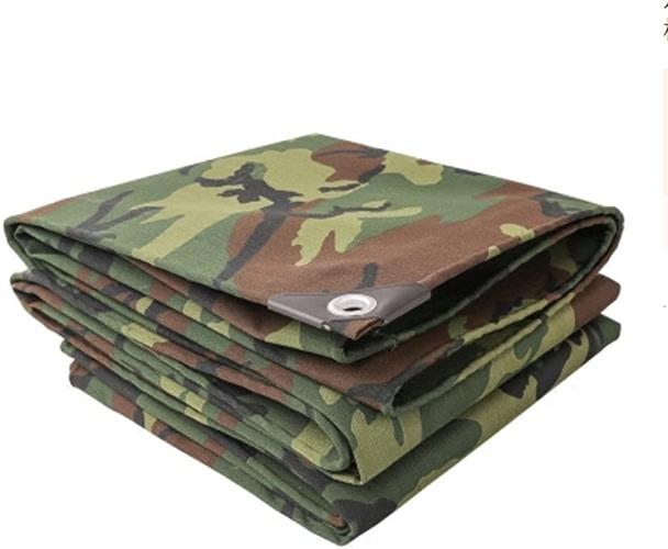 Tarpaulin NAN en Plein air épaissir Camouflage Camouflage bache Toile écran Solaire étanche Tissu extérieur Ombre (5  5 m, 5  6 m, 5  7 m, 5  8 m, 5  10 m) (Taille   5  5m)