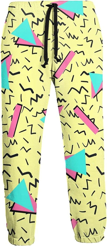Active Sweats Jogger Pants 80s Memphis Fashion Running Joggers Casual Sweatpants for Men Women