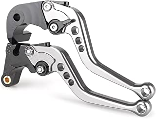 Newsmarts Short Clutch Levers, Short Brake Clutch Lever Set for Moto Guzzi BREVA 750 2004-2009 - 9 Colors