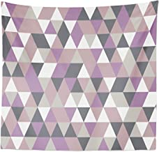 Lunarable Geometric Tapestry Queen Size, Abstract Triangles Polygon Art Modern Fashion Avant Garde Contrast, Wall Hanging Bedspread Bed Cover Wall Decor, 88