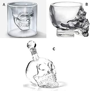 クリスタルスカル ショットグラス BERグラス おしゃれ ドクロ スカル /V98-1 (A(ショットグラス1個))