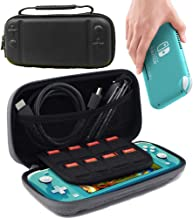 Carrying Case for Nintendo Switch Lite, Ultra Slim Portable Hard Shell Pouch Travel Game Bag for Switch Lite/Mini Console Accessories Holds 8 Game Cards