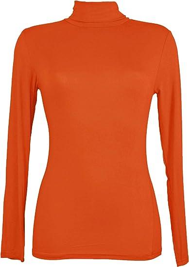 Miss Rojo - Camiseta para debajo del jersey para mujer, manga larga, cuello vuelto