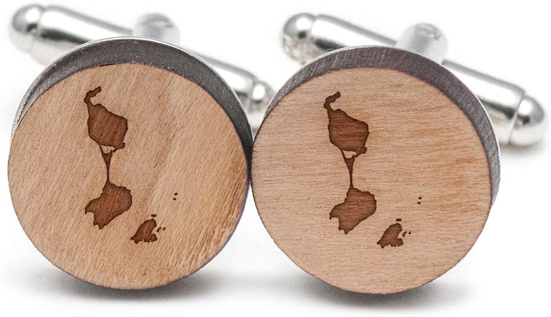 799c09bc St Pierre And Miquelon Cufflinks, Cufflinks, Cufflinks, Wood Cufflinks Hand  Made in the USA 737dcf