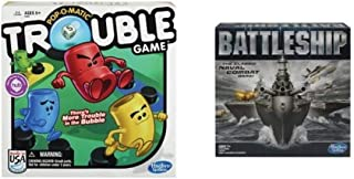 Trouble Game and Battleship Game Bundle