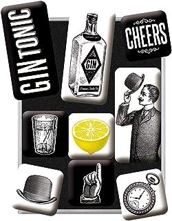 Nostalgic-Art, Set d'aimants rétro, Gin & Tonic – Cadeau pour Les Amateurs de Cocktails, Décoration pour Le frigo, Design ...