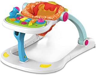 Baby Walker, Seated or Walk-Behind Learning-Seated, Music, Adjustable Height, High Back Padded Seat, Activity Walker with ...