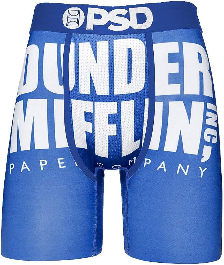 PSD Underwear Men's Stretch Wide Band Boxer Brief Underwear - The Office