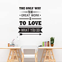 Art Wall Decal Office Decoration Sticker The Only Way to Do Great Work is to Love What You DO Wall Decoration Vinyl Art Quotes Removable Wall Stickers LY121