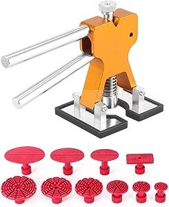 PDR Dent Repair Kit  AOZBZ Dent Repair Tools Set Dent Puller Golden Dent Lifter with PDR Glue Tabs Auto Body Dent Removal Tools Car Dent Removal Tool Kit