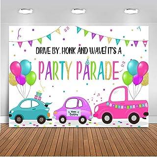 Birthday Backdrop Mocsicka Drive, 7x5ft