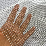 """2PACK 304 Pretty Sturdy 12"""" X 24""""(310mm X 610mm), 5 Mesh Wire Mesh Screen, Stainless Screen, Mesh Screen Never Rust, Hard and Heat Resisting Wire Mesh Used for Many Projects by Valchoose"""