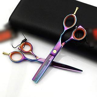 YLLN 5,5 inch kleurrijke professionele kappersscharen, platte + tandenhaarknipscharen Kapper Styling Tools