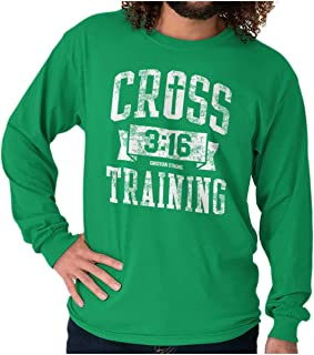Cross Training Christian Religious Lord God Long Sleeve T Shirt