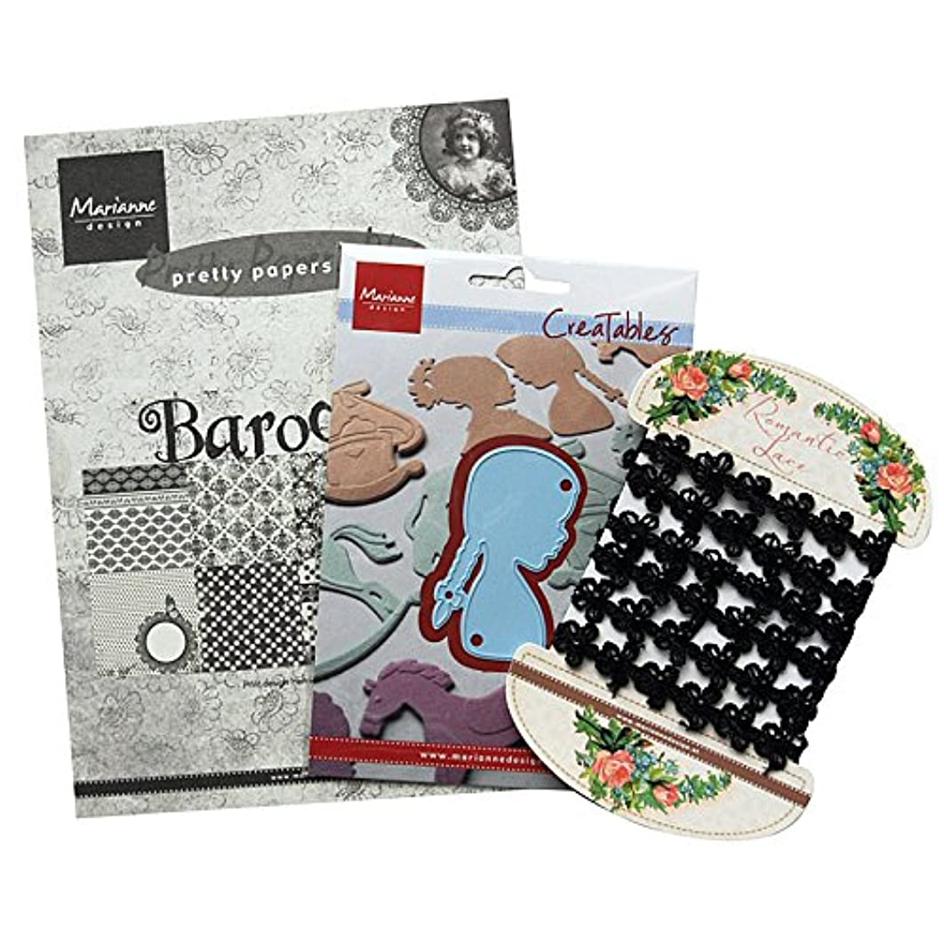 Marianne Design Silhouette Assorti Pack, Paper Multicoloured, 21 x 15.4 x 2.5 cm