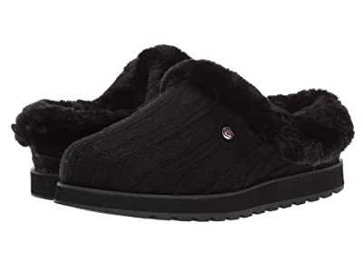 BOBS from SKECHERS Keepsakes Ice Angel (Black/Black) Women