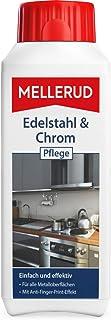 MELLERUD Edelstahl & Chrom Pflege – Wirkungsvolles Reinigungsmittel gegen Schmutz und Fingerabdrücke für Metall-Oberflächen im Innen- und Außenbereich – 1 x 0,25 l