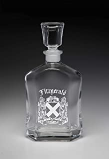 Fitzgerald Irish Coat of Arms Whiskey Decanter (Sand Etched)