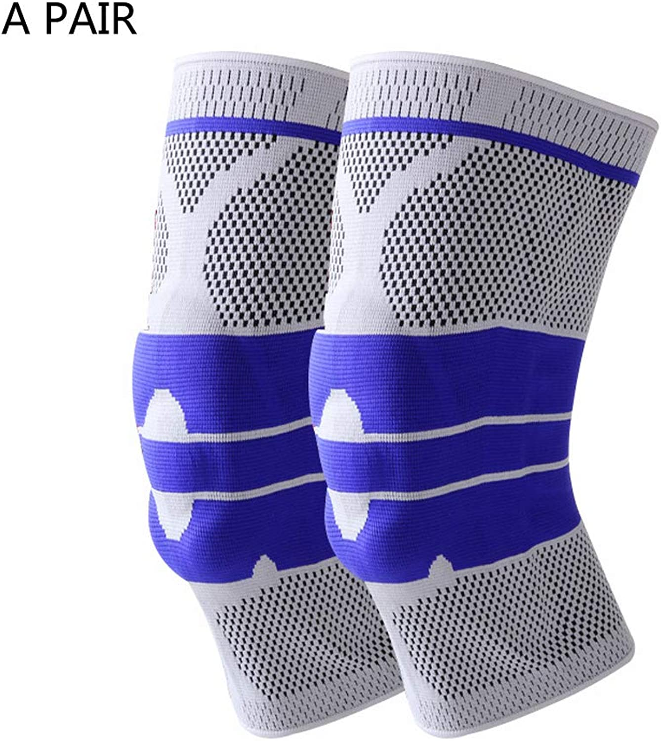 Knee Support for Men and Women,Knee Brace for Arthritis Compression Knee Sleeves for Pain Relief Anti Slip Breathable for Joint Pain Arthritis Ligament Injury Ideal for Volleyball Basketball etc