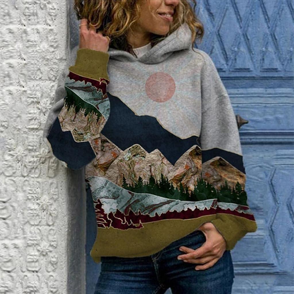 Masbird Hoodies for Women, Women's Long Sleeve Anime Cute Hoodies Fall Sweaters Teen Girls Casual Printed Hoodies Tops