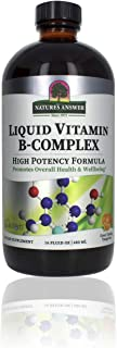Nature's Answer Liquid Vitamin B-Complex Supports Healthy Energy Levels | Promotes Healthy Nerve Function | All-Natural Ta...