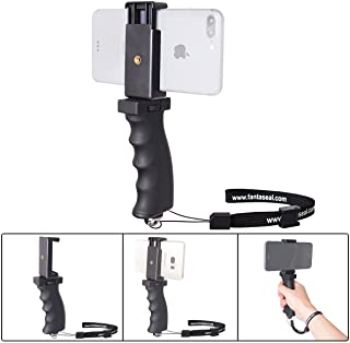 Fantaseal Ergonomic Cell Phone Smartphone Holder, Phone Selfie Stick Hand Grip Stabilizer Handheld Mount Phone Handle Support Steadycam Compatible with iPhone Xs X Nexus LG HTC Samsung etc