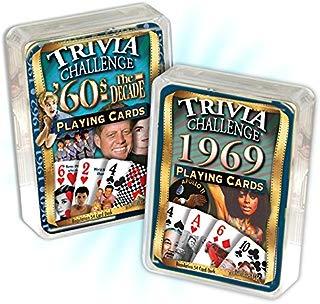 Flickback Media, Inc. 1969 Trivia Playing Cards & 1960's Decade Trivia Combo: 50th Birthday or Anniversary
