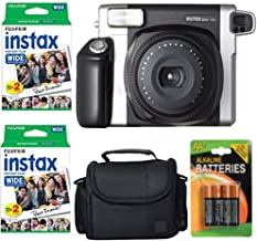 Fujifilm INSTAX 300 Photo Instant Camera With Fujifilm Instax Wide Instant Film Twin Pack Instant Film (40 Shots) + Camera Case With Photo4less Microfiber Cleaning Cloth- Accessory Bundle