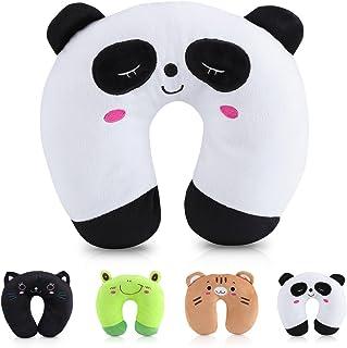 Yosoo Almohada U de Dibujos Animados PP Algodón Forma de U Almohada de Viaje para Coche Avión Oficina Hogar Viaje(Panda)