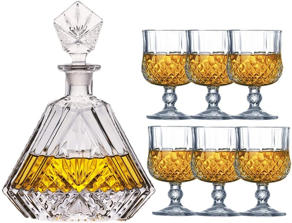 Premium Glass Decanter Set Whiskey Stones Max 79% OFF For 67% OFF of fixed price Gift Whis Men