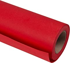 RUSPEPA Red Kraft Wrapping Paper - 81.5 Sq Ft Heavyweight Paper for Wedding, Christmas, Birthday, Shower, Congrats, and Holiday Gifts - 30Inch X 32.8Feet Per Roll