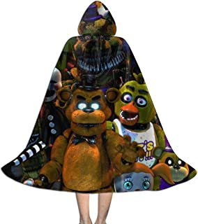 Freddy-s-World Unisex Children Printed Hooded Cap Cape Cloak Custom Party Props Robe Christmas Halloween Carnivals Cosplay Costumes Kids Boys Girls