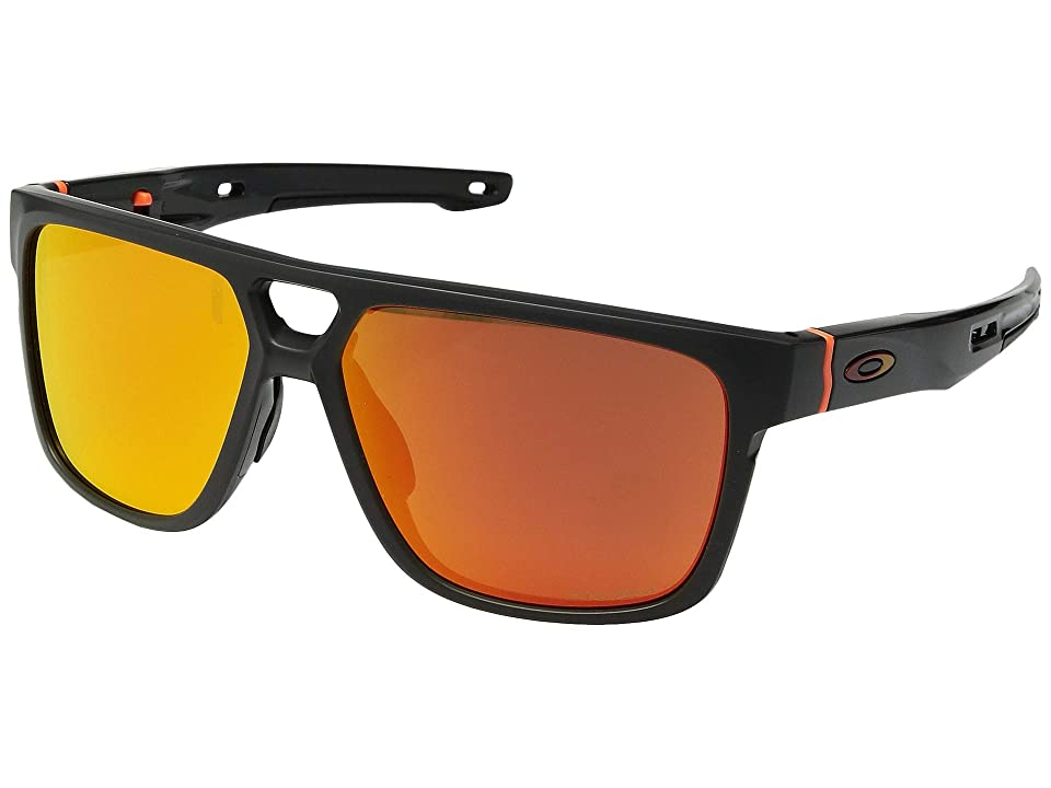 Oakley Crossrange Patch (Patch Aero Matte Carbon w/ Prizm Ruby) Athletic Performance Sport Sunglasses