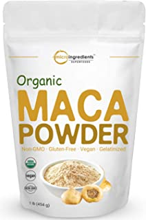 Sponsored Ad - Pure Organic Maca Powder, 1 Pound, Gelatinized for Better Absorption, Rich in Antioxidants, Powerfully Help...
