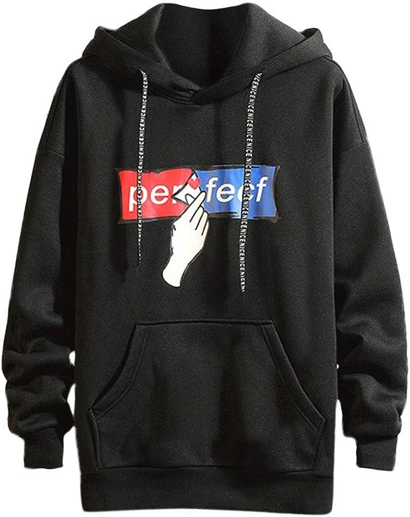 MODOQO Men's Pullover Hoodies Long Sleeve Plus Size Sweatshirt with Pocket