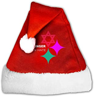 Christmas Hats Stronger Than Hate Logo Santa Hats for Women Men