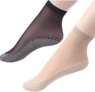 30f82ca07 ayushicreationa New Design Ultra Thin Transparent Net Ankle Socks with No  Thumb For Women's Skin Ultra