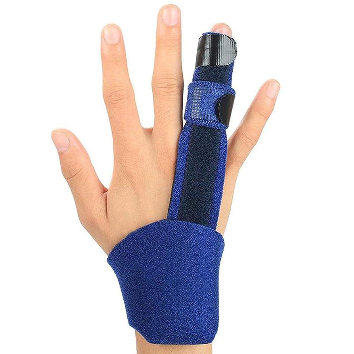 ファブリックとまり木領事館トリガー指スプリント、内蔵のアルミニウムを備えた調節可能な固定ベルト、腱炎、骨折または骨折した指の痛みを軽減します。