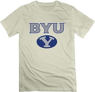 Men's Brigham Young University & BYU & Y Logo T-Shirt Black