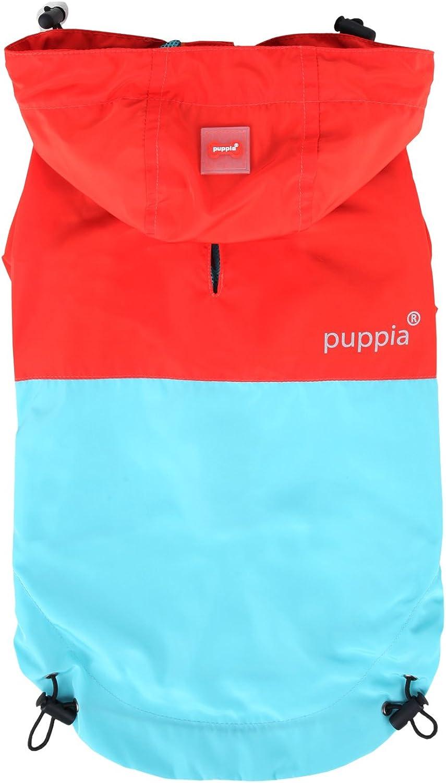 Puppia Paz Raincoat, Medium, Red