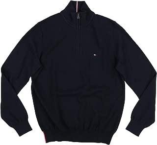 Mens 1/4 Zip Mock Neck Sweater