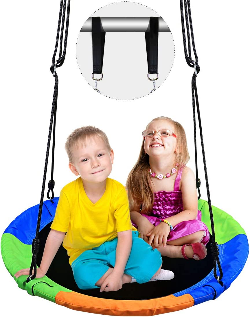 New OFFicial mail order Kids Outdoor Round Mat Swing Large and Flying Saucer