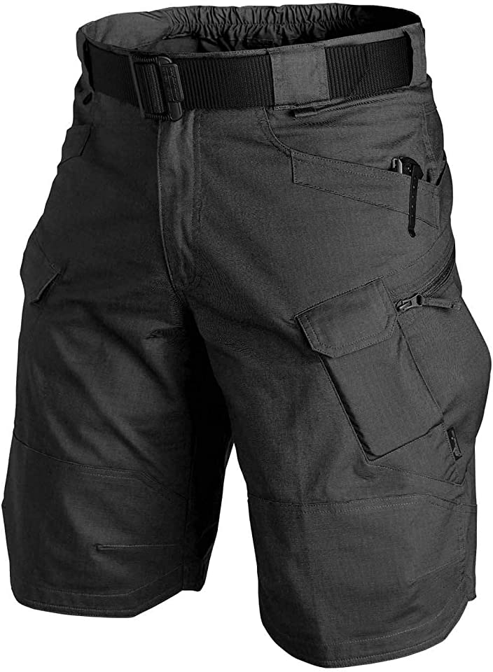 2021 Upgraded Waterproof Tactical Shorts for Men Summer Quick Dry Breathable Hiking Cargo Shorts