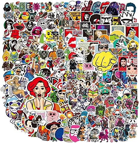 stickers home 400 PCS Set di Adesivi in Vinile per Computer Portatili, Bottiglie d'Acqua, Bagagli, Skateboard, PS4, Xbox One, Cellulare e Auto, per Adulti e Ragazzi, Impermeabili