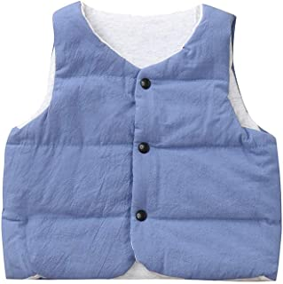 トップス 男の子、女の子、三番目の店 幼児 ベビー ガールズ ボーイズ ノースリーブ ソリッド 暖かいベスト キッズ ジャケット 防風コート