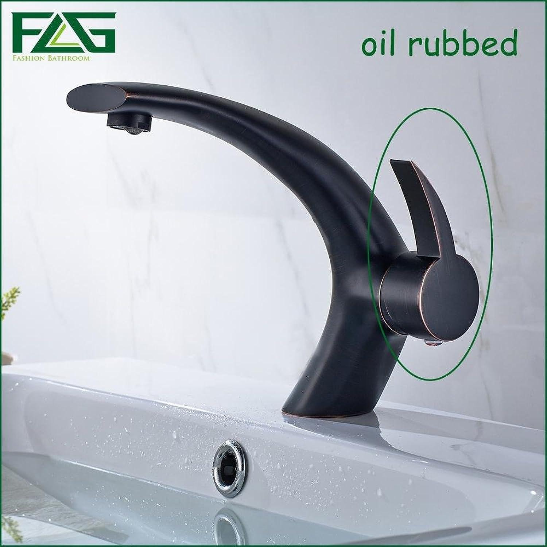 Maifeini ?Basin Faucet Deck Heat Sink Faucet Polish Nickel Cold, Ceramic Plates Spool Bathroom Tap?, Oil